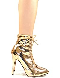 9ff3c0222 Chantelle-3 Pointy Toe Slim Heel Lace Up Women s Heeled Sandal