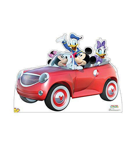 Advanced Graphics Mickey Mouse Car Ride Life Size Cardboard Cutout Standup - Disney's Mickey Mouse Clubhouse -