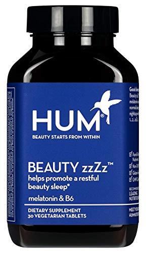 HUM Beauty zzZz - Melatonin & B6 Support for Beauty Sleep (30 Vegetarian Tablets)
