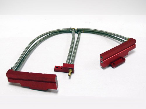 OBX Red Fuel Injection Rail for 02-06 Subaru WRX (US Spec EJ20 ONLY) (06 Wrx Fuel Rails)