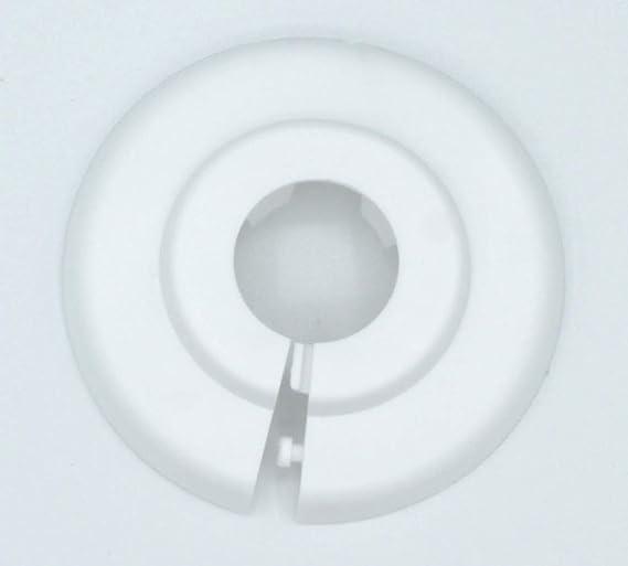 2 pieza Individual de rosetones para tubos de calefacción, protectora para tubos de calefacción, calefacción, 12 mm, 15 mm, 18 mm, 22 mm, 28 mm, 35 mm; ...