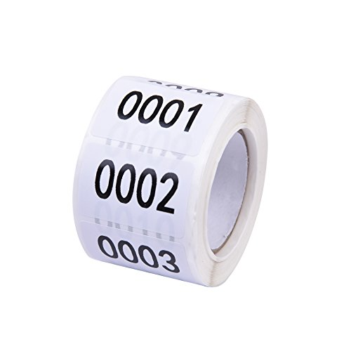 Inventory Labels - Consecutive Number Labels Inventory Stickers - Product Claiming Labels 1-500 Clothes Numbers, Moving Box Numbering 1 x 1.5 Size Labels
