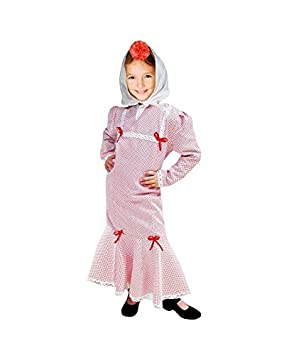 MultishopVA Disfraz Chulapa niña Infantil Rojo Lunar Blanco ...