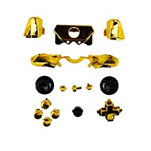 Bumpers Triggers Buttons Dpad LB RB LT RT for Xbox One Elite Controller Chrome Gold