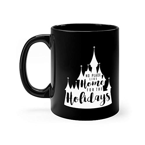 Home for the Holidays White Mug Coffee Mug 11oz Gift Tea Cups 11oz Ceramic Funny Gift Mug -