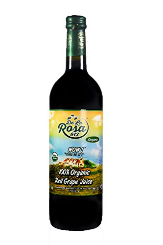 De La Rosa Real Foods & Vineyards - Kosher Organic Austrian Red Grape Juice (25.4 oz/750 ml)