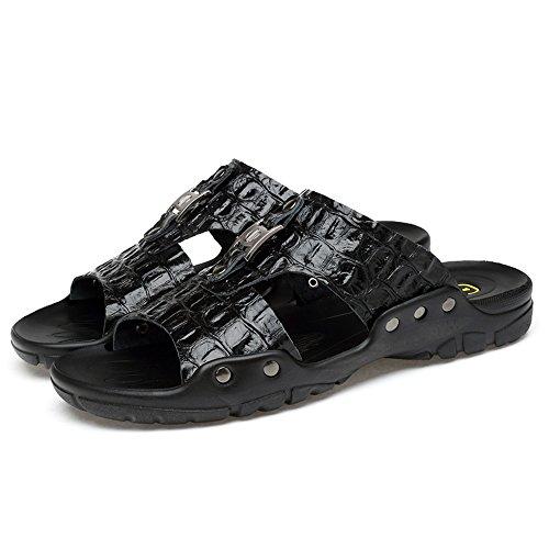 Grandi Uomo da Morbidi da di Dimensioni Nero Traspiranti e Scarpe Cricket Pantofole Sandali da Spiaggia yH7Yq5A5w