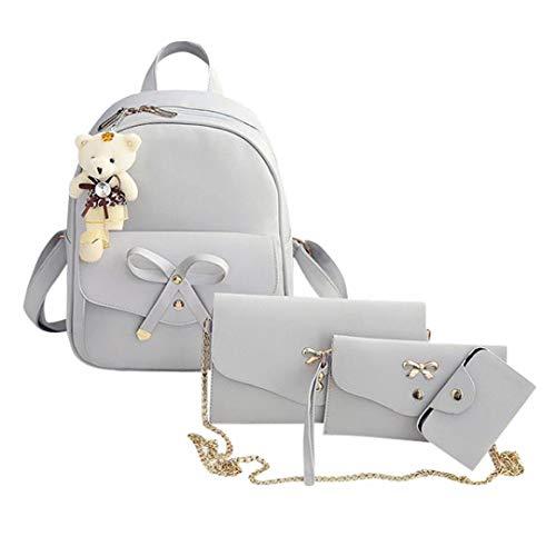 Bags Set,4PC Women Backpack Handbag Shoulder Bags Four Pieces Tote Bag Crossbody by-NEWONESUN