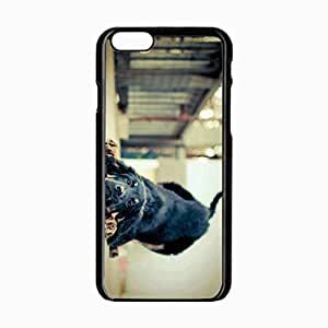 Customized Back Cover Case For iPhone 6 Hardshell Case, Black Back Cover Design 4.7inch Dog Personalized Unique Case For iPhone 6