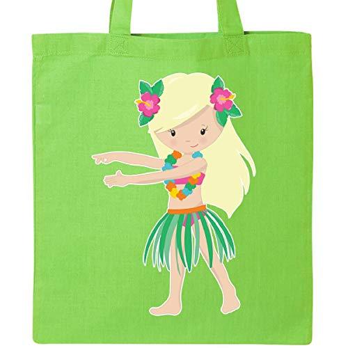 Inktastic - Blonde Hula Girl Tote Bag Lime Green 266ec -