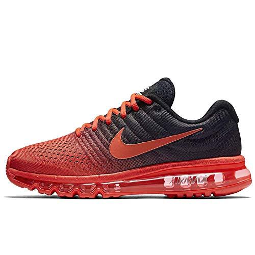 Nike Men's Air Max 2017 Running Shoes-Bright Crimson/Total Crimson