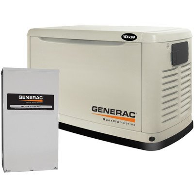 Generac Guardian Switch - Generac 6438  11,000 Watt Air-Cooled Steel Enclosure Gas Powered Standby Generator with 200-Amp Smart Transfer Switch