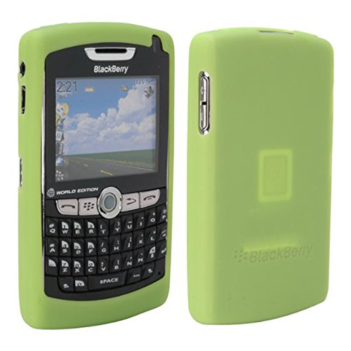 BlackBerry HDW13751006 RIM Green Silicone Skin Case For Blackberry 8800