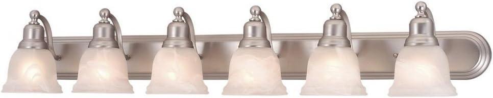 Vaxcel LS-VLD106BN Lasalle 6 Light Vanity Light, Brushed Nickel Finish