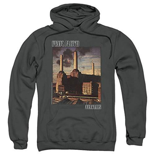 Pink Floyd Animals Rock Album Pullover Hoodie Sweatshirt & Stickers (Medium)