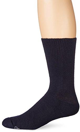 World's Softest Men's / Women's Sensitive Feet Comfort Fit Crew Socks, Black, Medium (Men 5-8/ Women 5-9.5) (The Most Expensive Woman In The World)