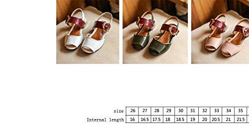 Ohmais Kinder Mädchen flach Freizeit Sandalen Sandaletten Kleinkinder Mädchen Halbschuhe Sandalette Ballerinas Grün