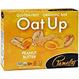 Pamela's Products Gluten Free Organic Oat Up Bar, Peanut Butter 4 Pack, 8 Count