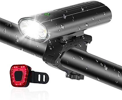 Waterproof Bicycle LED Mountain Safety Headlight Tail Light Bike Light Set