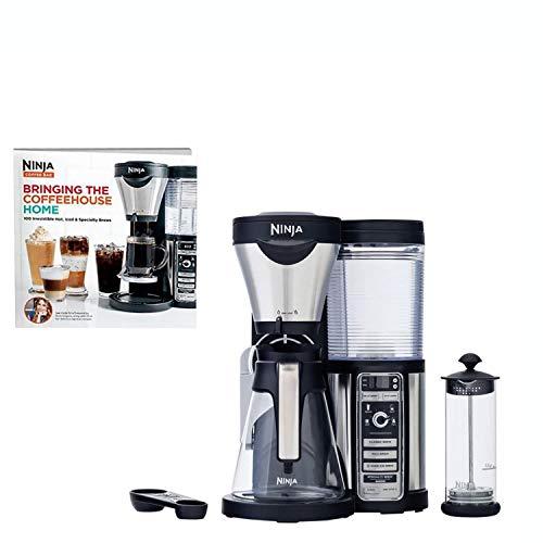 Ninja Coffee Bar Coffee Bar w/Glass Carafe, Frother & 100 Recipe Cookbook CF080W