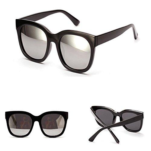 De Grande Sol Gafas Sol Silver Gafas Gafas Sunglasses Colores Modificadas Polarizadas Marco Red Retro De Mujeres S8xHqX