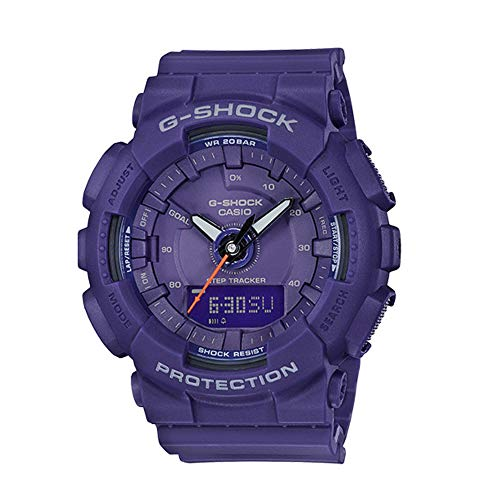 Casio G-Shock GMAS130VC-2A S-Series Step Tracker Purple - Casio X Shock Large Watch G