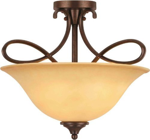 Hardware House 10-0892 Bennington 3-Light Semi-Flush Ceiling Fixture, Antique Bronze