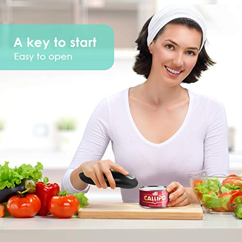 Electric Can Opener, Smooth Edge Mini Restaurant Can Opener for Any Size, Best Kitchen Gadget for Arthritis and Seniors by instecho (Image #6)