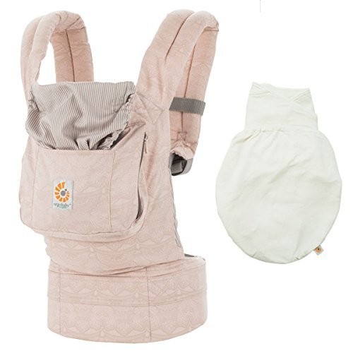 Ergobaby Organic 3 Position Baby Carrier Rose Harmony Plus Swaddler - Natural Small/Medium