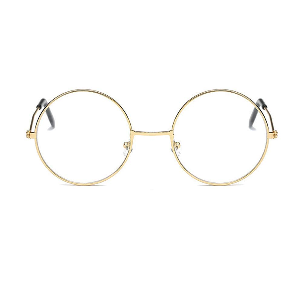 Unisex Round Glasses Metal Frame Summer Retro Clear Lens Vintage Geek Eyelasses