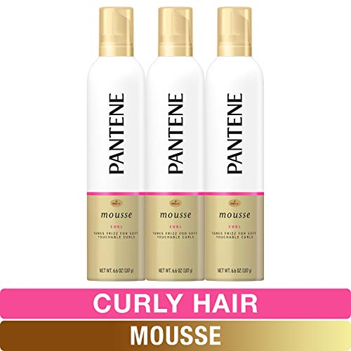 Pantene, Curl Mousse, Tame frizz for Soft Touchable Curls, Pro-V, For Curly Hair, 6.6 fl oz, Triple Pack (Best Curl Mousse For Curly Hair)