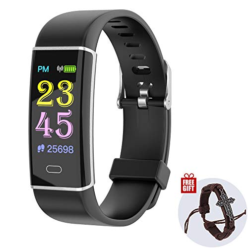 INNKOO Fitness Activity Tracker Watch, Pedometer, Smart Wristband, Steps Calories Counter for Kids Women Men, Waterproof Color Screen with Heart-Rate | Blood-Pressure | Sleep Monitor (SilverEdge)