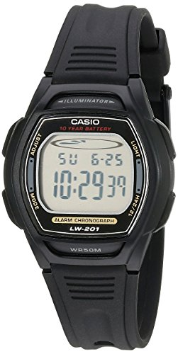 Chronograph Alarm Black Watch (Casio Women's LW201-1AV Digital Alarm Chronograph Watch)