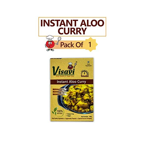Visavi Food Ventures Tasty Healthy & Super Easy Aloo Onion Curry Ready to Cook (100g)