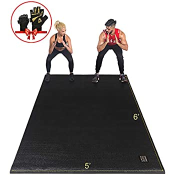 "Amazon.com : RevTime Large Exercise Mat - 7' x 4' (84"" x"
