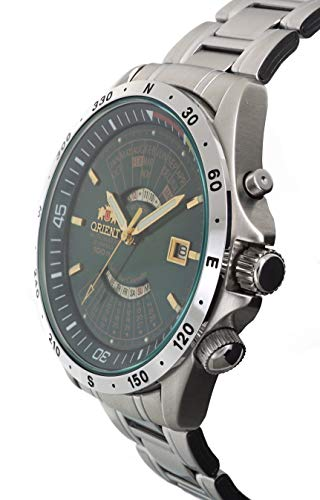 f9ba753c6 Orient Sports Automatic Multi-Year Calendar Green Dial Watch EU03002F