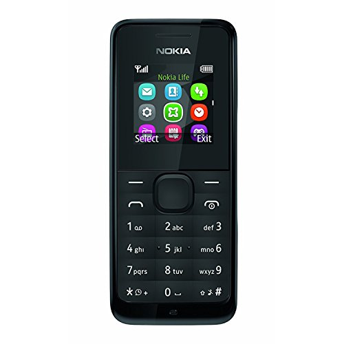 Nokia 105 RM-1135 Dual-Band (850/1900 MHz) Factory Unlocked Mobile Phone, Black, 2G Network Only. by Nokia