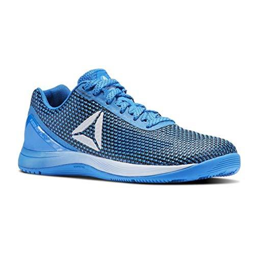 Reebok Women's CROSSFIT Nano 7.0 Track Shoe, White/Black/Silver Metallic, 8 M US