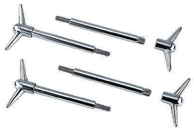 Mr. Gasket 9824 Chrome Valve Cover Wing Bolt - Set of - Valve Wing Cover