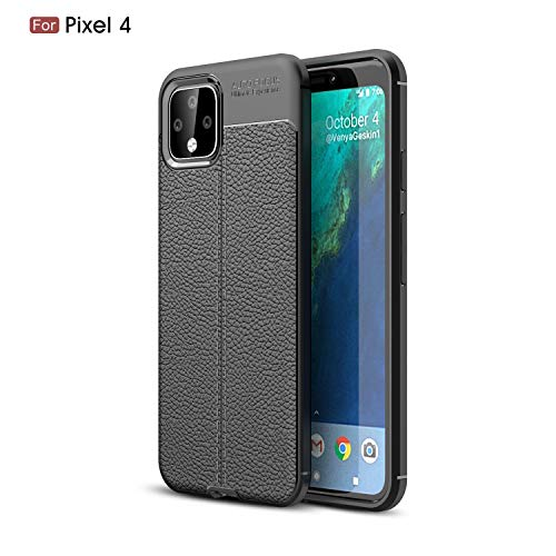 Price comparison product image DAMONDY for Pixel 4 Case, Google Pixel 4 Case, 3D Skin Painting Rugged Non Slip Armor Shock Absorption Carbon Fiber Soft Protective Back Cover Defender Phone Case for Google Pixel 4-Black