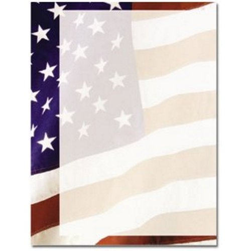 100 Old Glory Letterhead Sheets