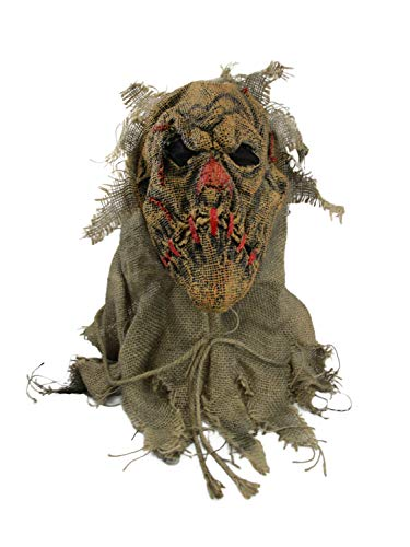 (Fun World Men's Scarecrow Mask, Multi,)