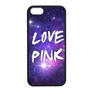 Canting_Good Unique design Love Pink Custom Case for iPhone 5,5S PC (Laser Technology)