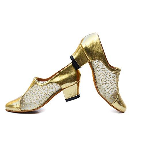 misu , Damen Tanzschuhe Silberfarben / Schwarz Gold