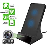 1080P Wireless Charger Hidden Camera with Night Vision Motion Detection for Home Security Wifi Spy Cam