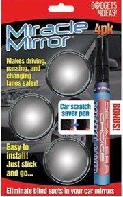 Miracle Mirror 3 Pack w/ Bonus Scratch Saver - Fix Scratch Mirror