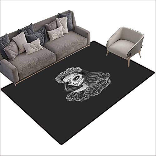 Non-Slip Carpet Day of The Dead Gothic Young