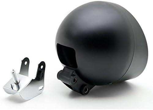 Krator Motorcycle Custom Black Headlight Head Light For Yamaha Virago XV 250 500 535 700 750 920 1100