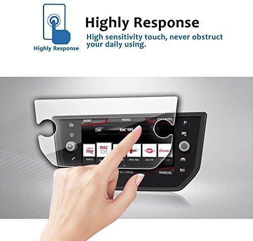 XHULIWQ スクリーンプロテクターナビゲーションスクリーン9H強化ガラス透明保護フィルム、シートイビザ8インチ用