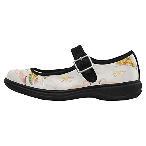 Interestprint Femmes Confort Mary Jane Appartements Casual Chaussures De Marche Multi 2